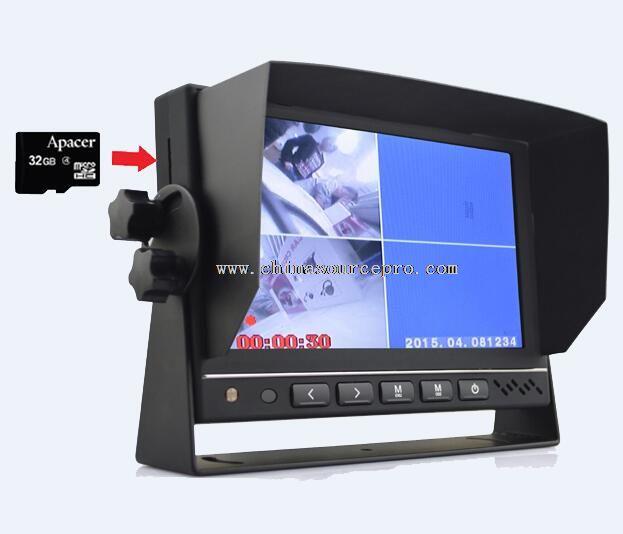 Monitor de 7 polegadas carro dvr com dvr HDMI AV entrada